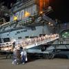 US Navy Ship At Jebel Ali, UAE