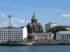 Uspenski Cathedral View From Sea - Helsinki Finland