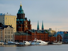 Uspenski Cathedral With Sea-Front - Helsinki Finland