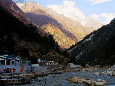 View From Gangotri Town UT Himalayas