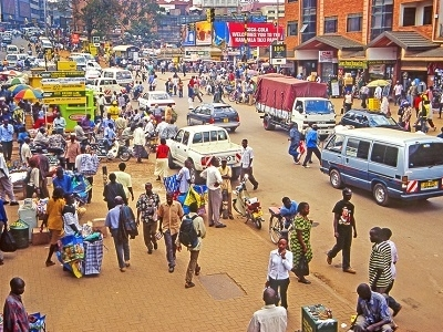 View Kampala Street Crowd