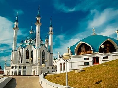 View Kul Sharif Mosque At Azan