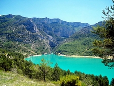 View Of The Entrance To The Verdon Gorge