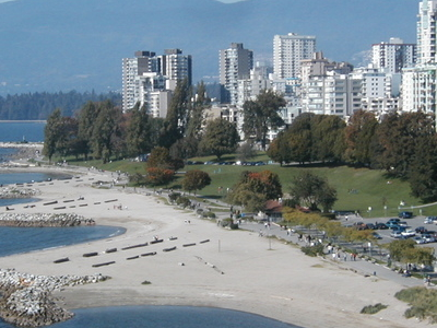 View Of The West End And English Bay.