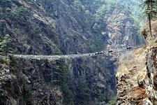 View Suspension Bridge Near Namche Bazaar - Nepal