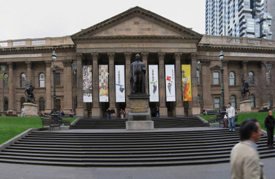 A Panoramic View Of The Library Facade