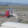 Virgin Blue Passengers Disembarking At Launceston Airport
