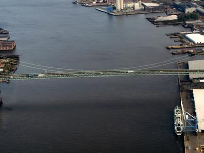Walt  Whitman  Bridge From The Air