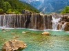 White Water River Waterfall With Jade Dragon Snow Mountain