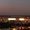 Wolfsburg Panorama At Dusk Viewed From Schillerteich Center. The