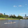 Yarra River & Melbourne City Skyline View