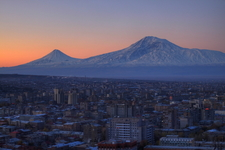 Yerevan Armenia With The Backdrop Of Mount Ararat