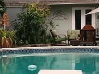 Pool house on historic estate