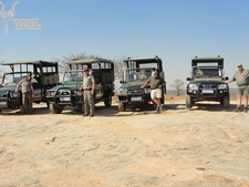 Some Of The Nhongo Safaris Guides Together With There Vehicles