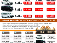 Airport Transfer And Day Tours Rate