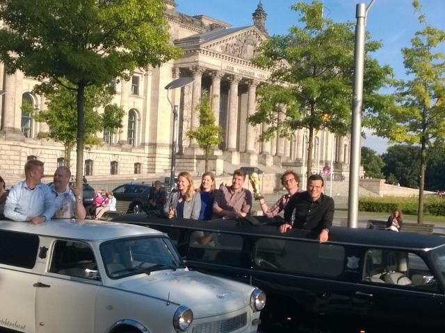 Berlin City Tour in Vintage Trabi-XXL Trabant Stretch Limousines Photos