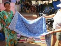 Pashmina Vendor - Lovely Blue One