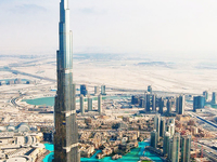 Burj Khalifa Aerial (tallest Building In The World)