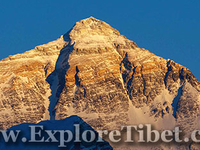 View Of Mt.Everest From Rongbuk Valley In Tibet