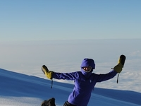 Michelle Morrow Posing At The Elevation Of 5896M