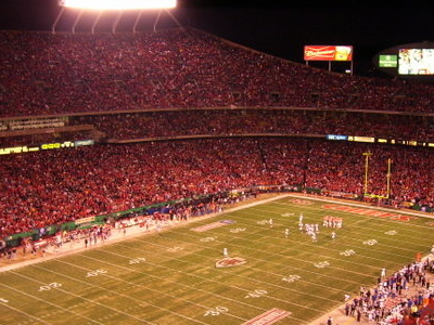 Arrowhead Stadium At Night