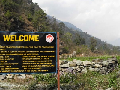 Entrance To Annapurna Sanctuary