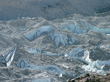 Khumbu Glacier Rock Covered