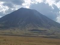 Mountain Oldonyo Lengai At Lake Natron
