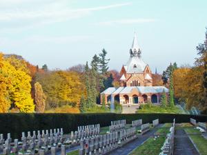Cementerio central en Szczecin
