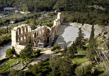 View Of The Theatre From The Acropolis