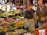 Campo De Fiori Market In Rome