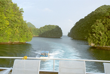 Channel Between The Rock Islands