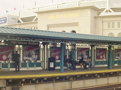 Southbound Platform And Current Yankee Stadium