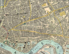 Map In 1882 Shows Complete Urbanisation Of The East End