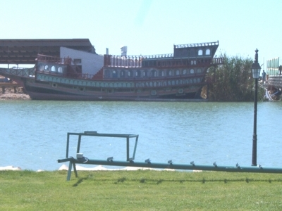 Replica Of A Ship At The Beach Of Belek