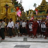 Protesters At Shwedagon Pagoda