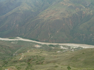 View Of Chicamocha Canyon