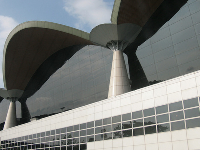 The Main Terminal Building Of KLIA From Side