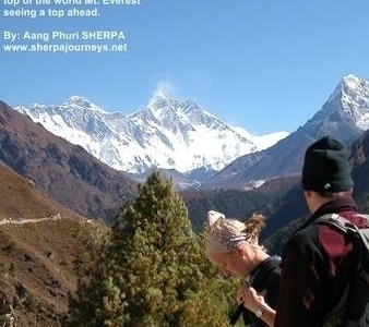 My Clients Enjoying The Spectacular View Of Eeverest