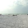 A Panoramic Photograph Of Siesta Beach