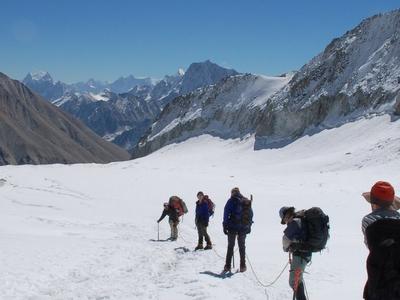 Trekker At Kalindi Pass