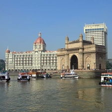 Gate Of India With Taj Mahal Hotel