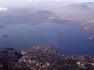 Lake Ilopango Seen From The East