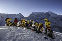 Preparing Equipment Before To Climb The Island Peak