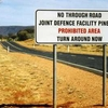 Warning Sign On The Road To Pine Gap