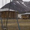 Old Siberian-Style Wooden Barracks