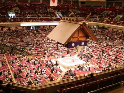 Sumo Wrestlers In The Ryōgoku Kokugikan