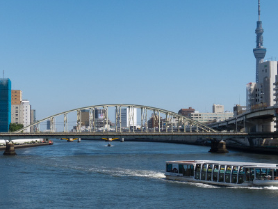 View Of Sumida River From Ryogoku Bridge