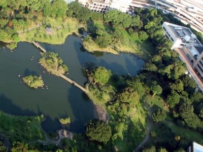 Kyū Shiba Rikyū Garden From The Tokyo World Trade Center