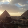 Giza Pyramids.